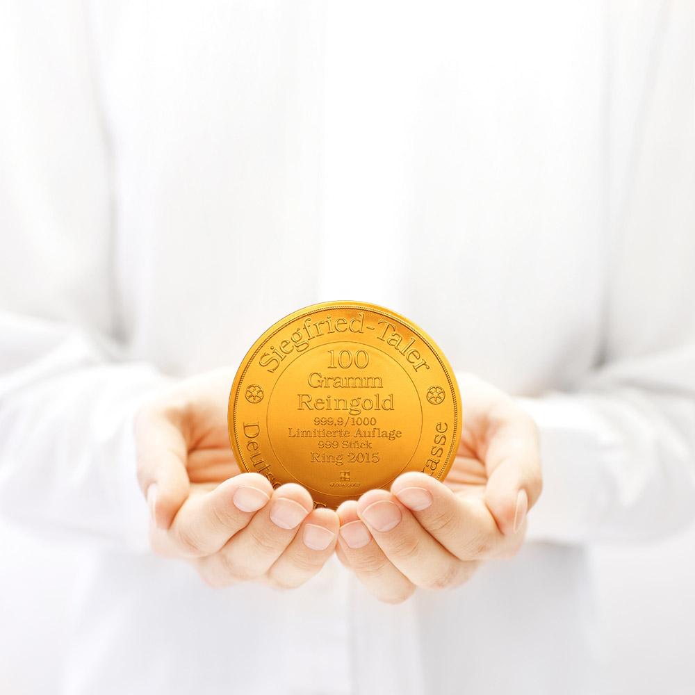 Siegfried Taler Gold 2015 100 gramm Global Gold