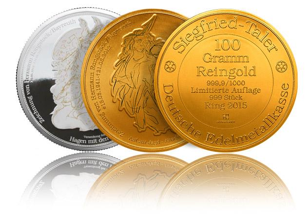 Goldmünzen und Siegfriedtaler bei Global gold